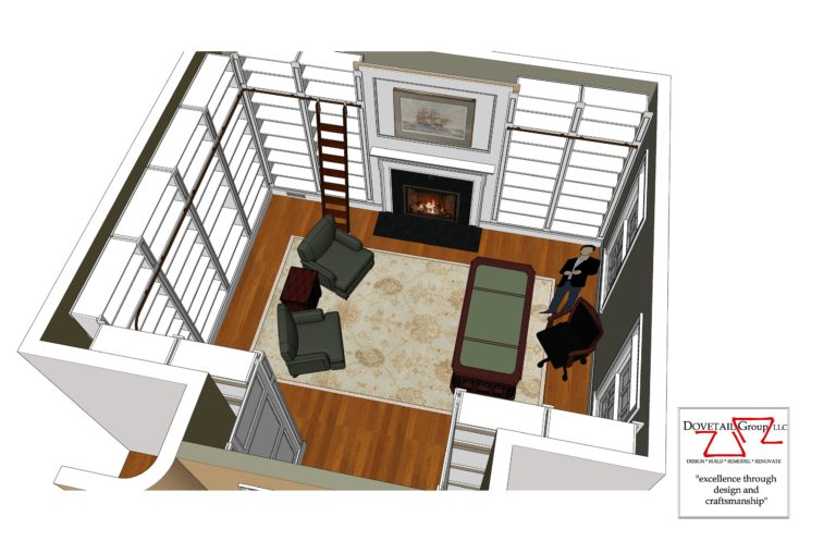 Library Design Drawing